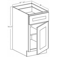 BASE CABINET 1 DRAWER 1 DOOR 1 SHELF