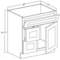 VANITY BASE CABINET (DRAWER ON RIGHT)
