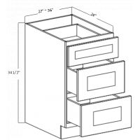 DRAWER BASE 3 DRAWER (2 BIG 1 SMALL)