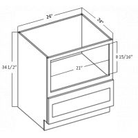 "MICROWAVE DRAWER BASE 1 DRAWER 24"" WIDE"