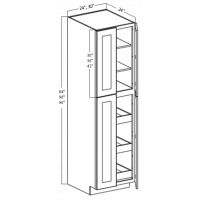 WALL PANTRY CABINET 4 DOOR 3 ROLLOUTS