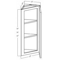 WALL END ANGLE CABINET 1 DOOR 3 SHELF