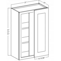 WALL BLIND CORNER CABINET 1 DOOR 2 SHELF